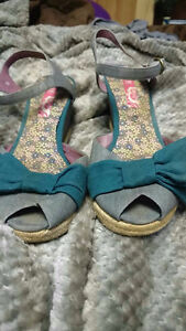 Wedge peep toe sandals $25 or OBO