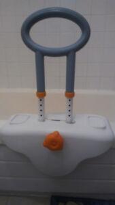Bathtub safety rail, Bath mat & Protective underwear for adults