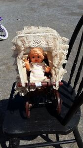TOY RETRO DOLL CARRIAGE REDUCED