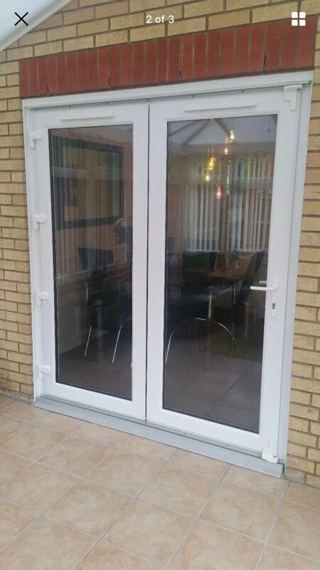 Bi Fold Patio Doors With Internal Blinds: UPVC Bifold Patio Doors Folding 2 Leaf Panel Door