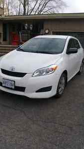 2012 White Toyota Matrix