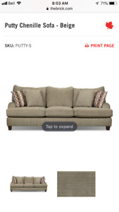1 Year Old Matching Sofa + Love Seat from the Brick