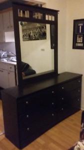 Bedroom set dresser and side table