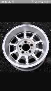 15 inch 5x4.5 vintage 80s light weight Aluminum rims