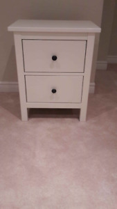 Bed side tables x2, Ikea Hemnes, white