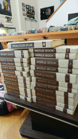 1970's world book encyclopedias and other books