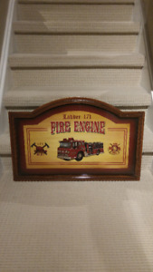VINTAGE FIRE ENGINE PLAQUE LADDER 171