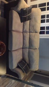 Couch with matching cushions
