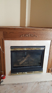 Fireplace mantel, marble