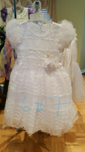 Brand new communion and flower girl dresses size 6 & 7