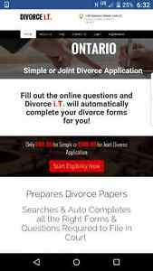 Simple/Joint/Uncontested Divorce Application $99.95 Online Cambridge Kitchener Area image 1