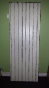 Solid wood door with antique/distressed finish