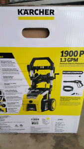 NEW 1900psi Karcher electric pressure washer.