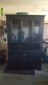 Selling china cabinet and Table and 2 chairs