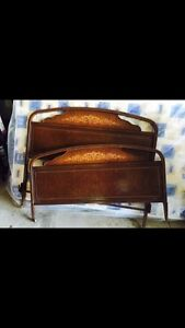 Antique metal bed + rails