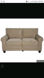 Ultra Suede Love Seat