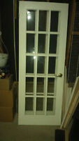 French Doors  set $160  size 30X80 I have 2 doors good offer