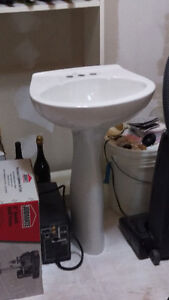 White Pedestal Sink - New - Never used.