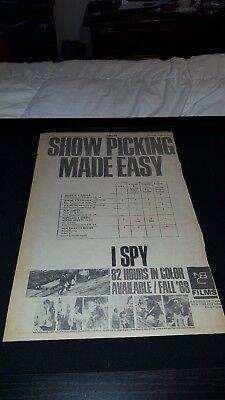 I Spy Rare Original 1968 NBC Films Promo Poster Ad Framed!