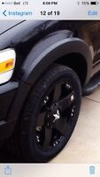 """20"""" Rockstar rims with tires $2200 OBO"""