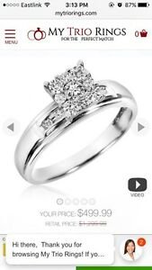 13 diamond engagement ring