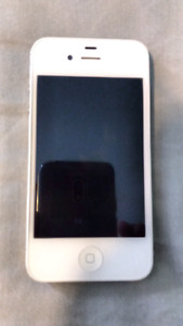 Apple iphone 4s 8 gb white used good condition with case