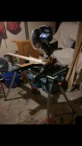 "Mastercraft sliding compound miter saw (10"") and stand"