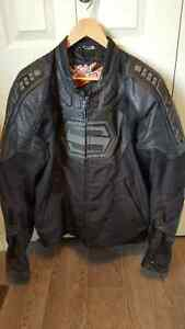Shift motorcycle jacket and gloves