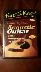 LEARN TO PLAY ACOUSTIC GUITAR DVD & ROCK GUITAR CD