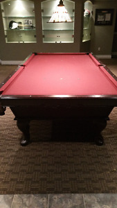 OLHAUSEN PROFESSIONAL BILLIARDS TABLE - 9'