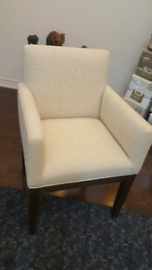 Brand new  creme accent chair