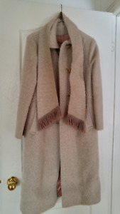 Women's wool coat with matching scarf. Like new.