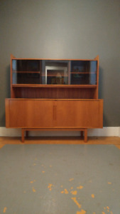 2 Piece Teak Buffet and Hutch