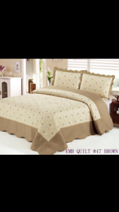 Brand new 3 Piece Embroidered Luxury Quilt Set ,King Size