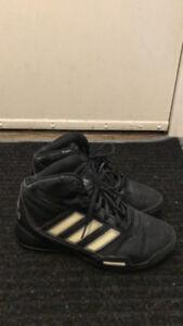 Girls Adidas basketball shoes size 5