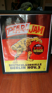 Pearl Jam Large Poster Glass