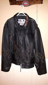 Manteau cuir Evel Knievel