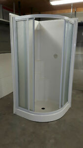 Frosted Glass One Unit Shower