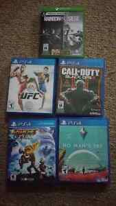 Looking to trade a few PS4 games and an Xbox One game