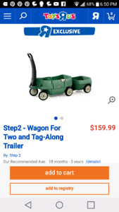 Step 2 Wagon for rwo and tag along trailer