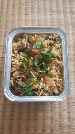 Authentic homecooked Indian Lamb Biryani.