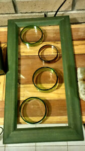 Wine Bottle Rings on Picture Frame