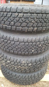 205/75R15 winter tires with rims
