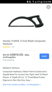 Stanely Hack Saw