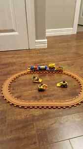 CAT Tractor and Train Set