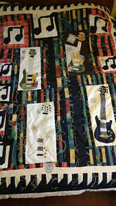 Quilt, Bedspread, 'Guitars'