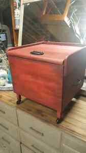 Red Rustic Box on wheels