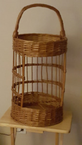 Tall Wicker Basket, Many Uses