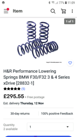 H&R lowering springs for bmw f32 xdrive