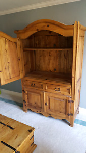 Solid pine cabinet